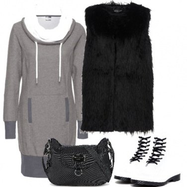 Outfit Grey, Black and White