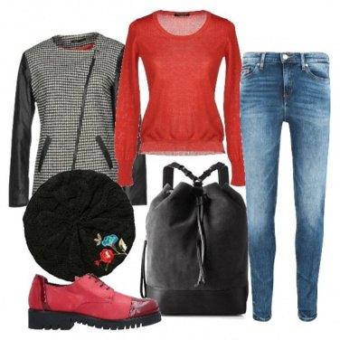 Outfit Jeans&maglia per la giornata