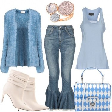 Outfit She loves jeans