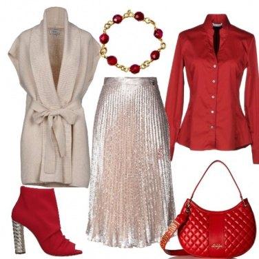 Outfit La gonna plissettata