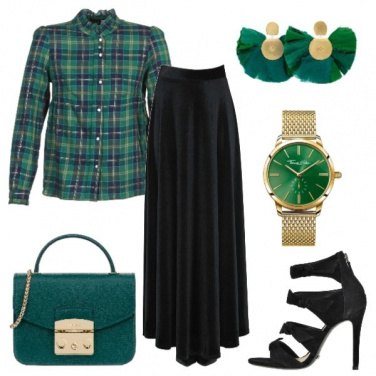 Outfit Scozzese in verde