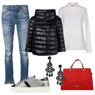 Outfit Sneakers e piumino