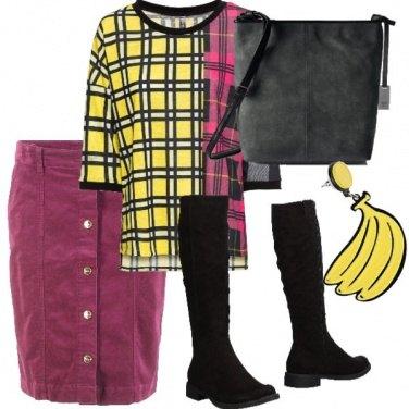 Outfit Banane e lamponi