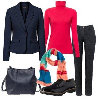 Outfit Basic con un pò di colore