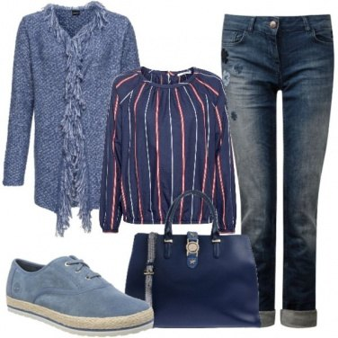 Outfit Blusa e cardigan