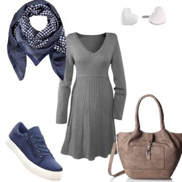 Outfit Con le sneakers blu