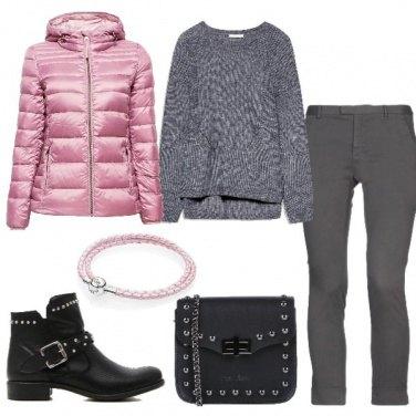 Outfit Il piumino rosa