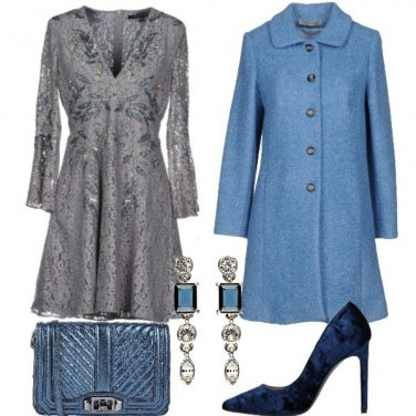 Outfit Pizzo e velluto