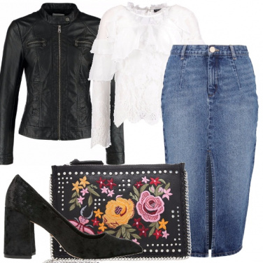 Outfit Denim e ruches