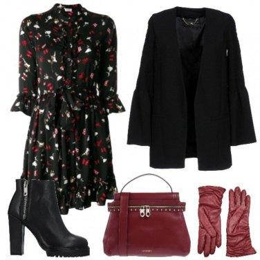 Outfit Maniche a campana e guanti