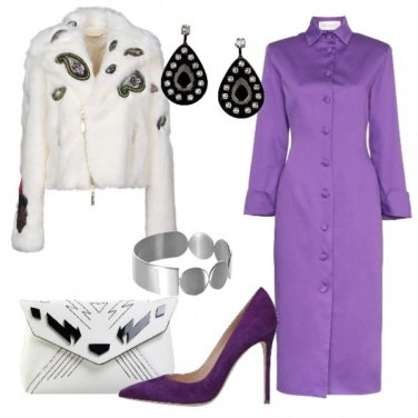 Outfit Chemisier giacca in ecopelliccia