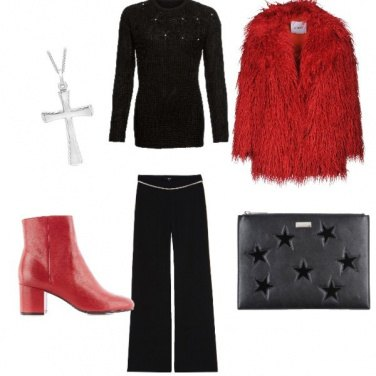 Outfit Serata glamour in rosso
