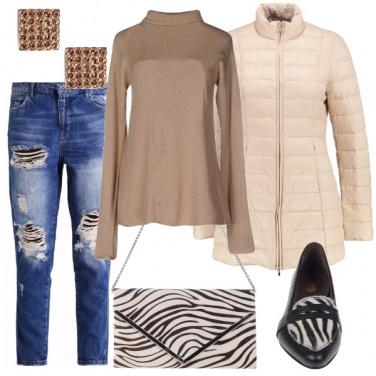 Outfit Zebrato discreto