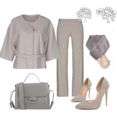 Outfit Grigio perla per il giorno
