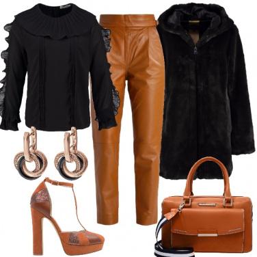 Outfit Cognac e rouches