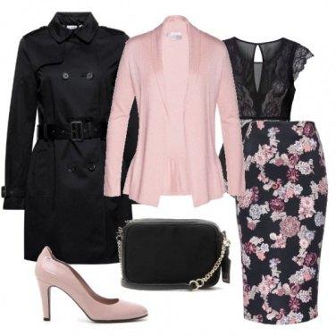 Outfit Femminile con il rosa e nero