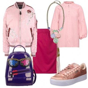 Outfit Zaino e sneakers