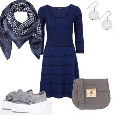 Outfit Vestitino blu