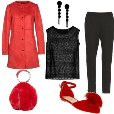 Outfit Red ponpon