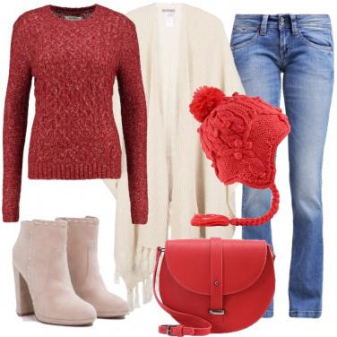 Outfit Io amo il rosso