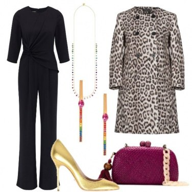 Outfit Cerimonia in animalier