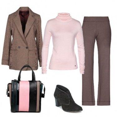 Outfit Marrone in ufficio