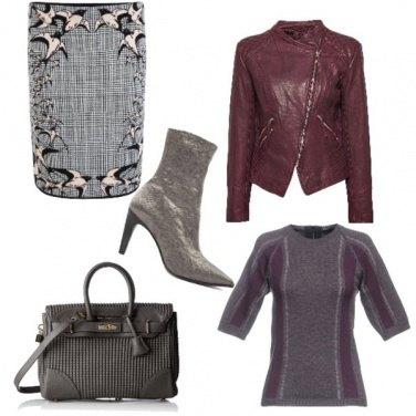 Outfit Check in grigio e viola