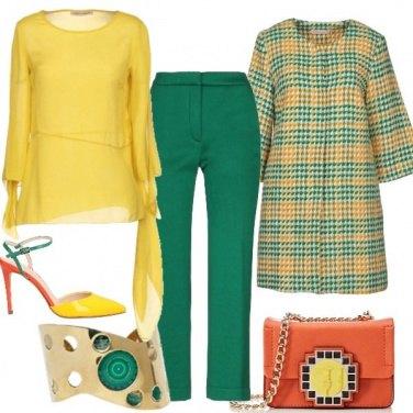 Outfit Eleganza in giallo e verde