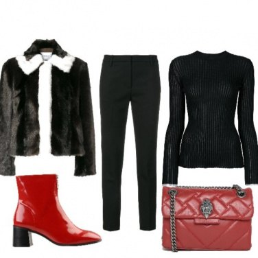 Outfit Pelliccia sintetica