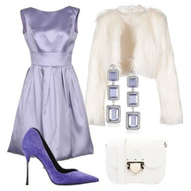Outfit Viola ed eco fur