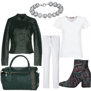Outfit Bianco a colori