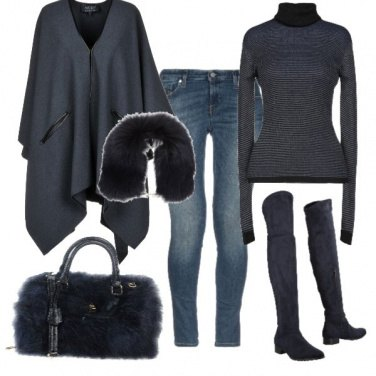 Outfit Basic total blue