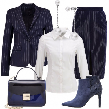 Outfit Righe e blu