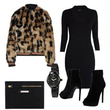 Outfit Eco fur animalier