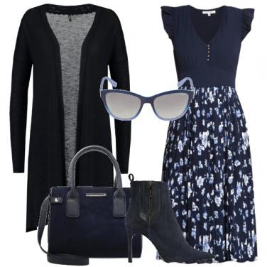 Outfit Una romantica in blu