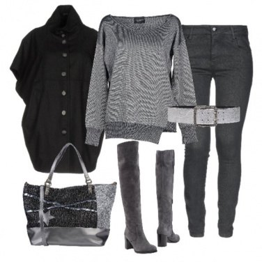 Outfit Basic Total grey