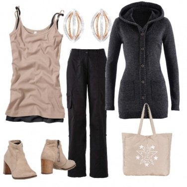 Outfit Il cardigan come giacca