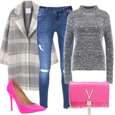 Outfit Il fucsia in inverno