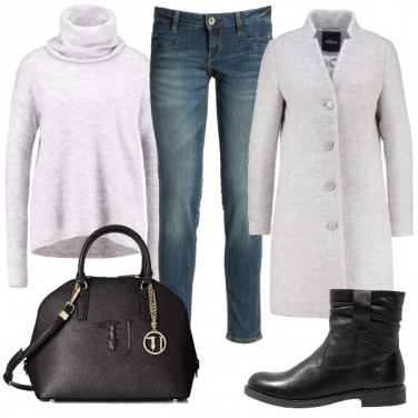 Outfit Grigio casual