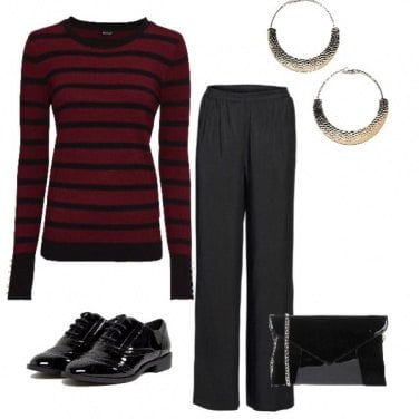 Outfit I love red&black