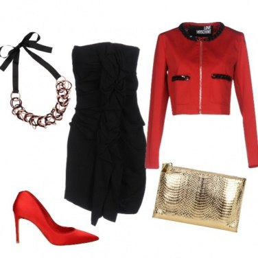 Outfit Red & black party