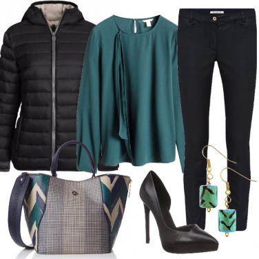 Outfit Chic in verde