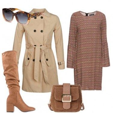 Outfit Con l'abito marrone