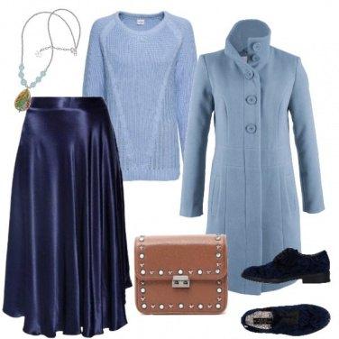 Outfit Romantica in blu e azzurro