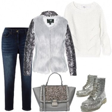 Outfit Curvy total glitter
