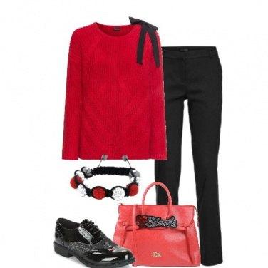 Outfit Il maglioncino rosso