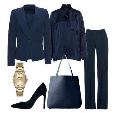 Outfit Blu per l\'ufficio