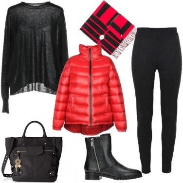 Outfit Piumino rosso