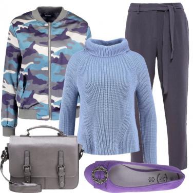Outfit Il maglione azzurro
