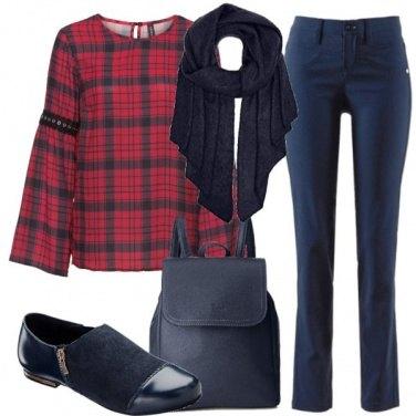 Outfit Quadri trendy
